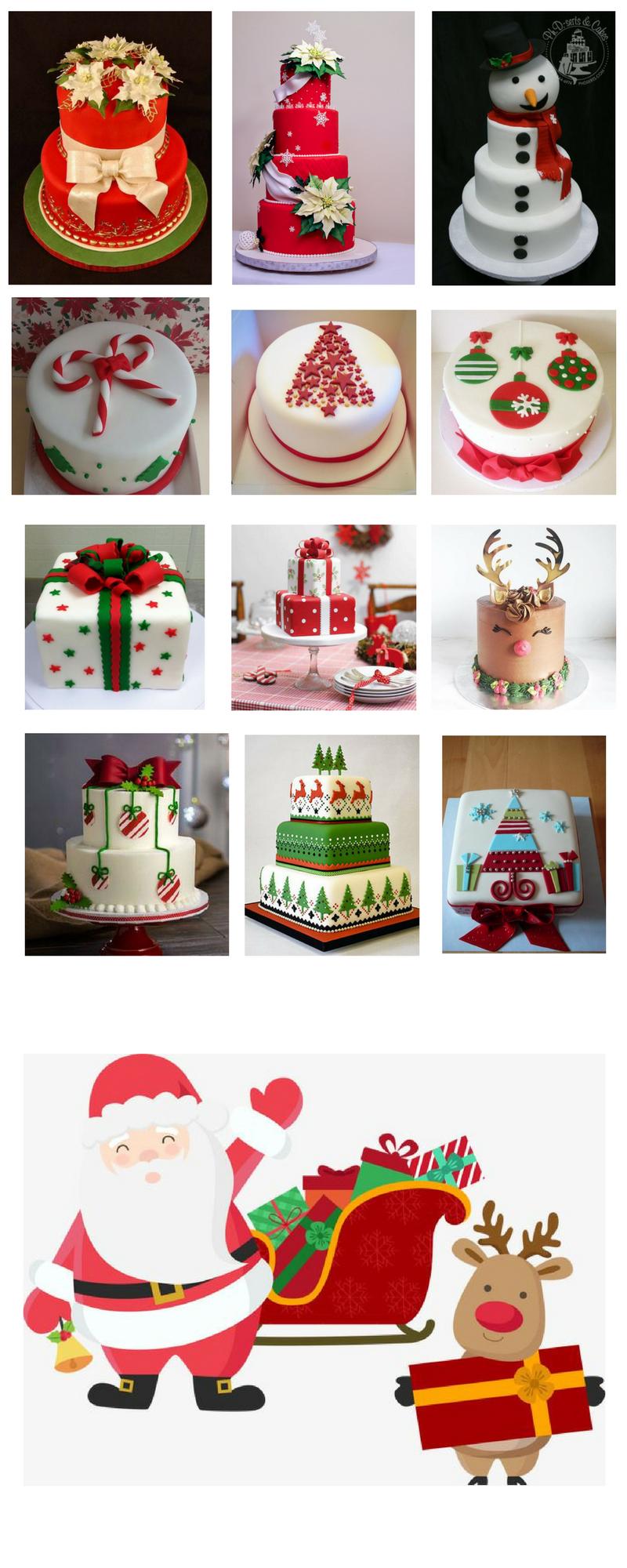 Design sem nome 1 1 - 12 Ideias de bolos de Natal