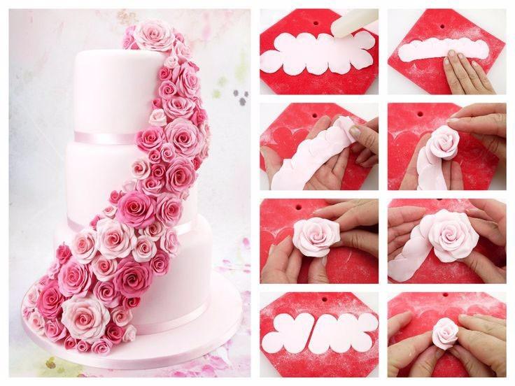 cortador para fazer rosas mais rapido kit com 3 unidades D NQ NP 683321 MLB20755518300 062016 F - Como fazer flores de pasta americana