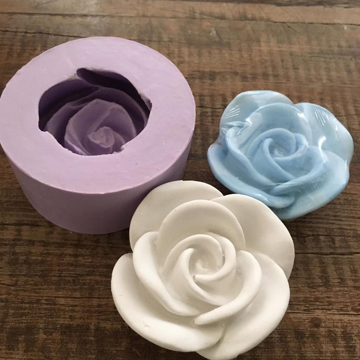 molde de silicone rosa molde - Como fazer flores de pasta americana