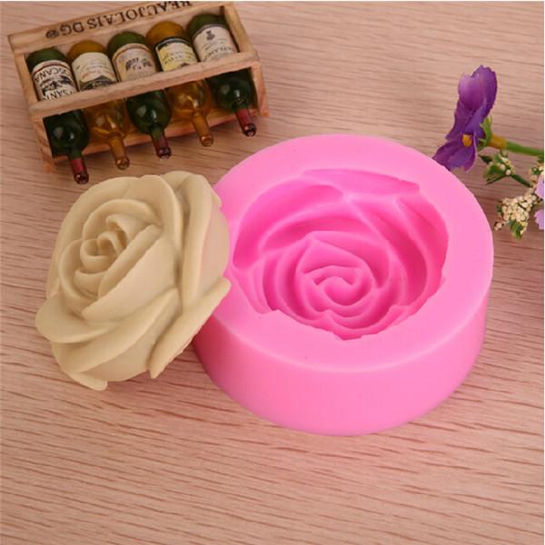 molde de silicone rosa s79 tapete de silicone - Como fazer flores de pasta americana