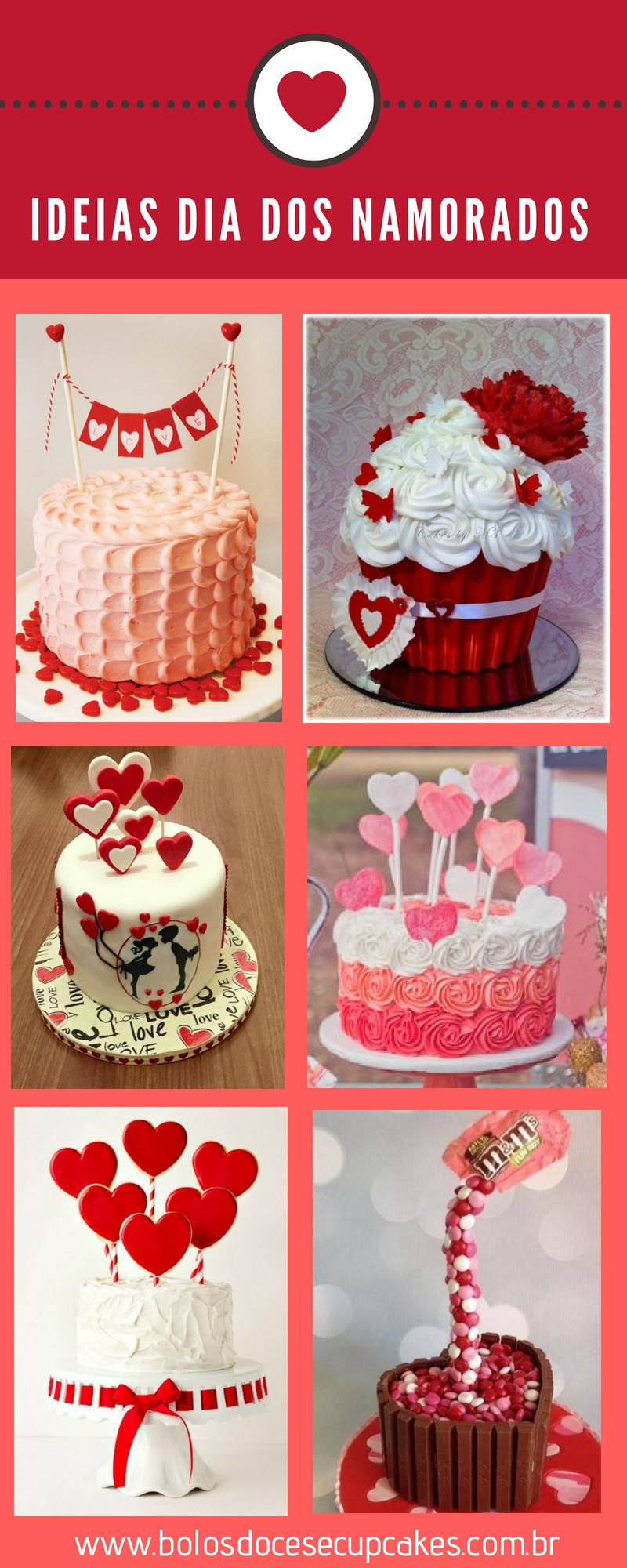 ideias dia dos namorados - Ideias e Bolos para o Dia dos Namorados ❤