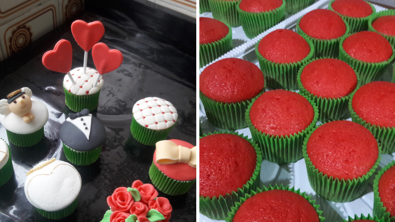 Decoração de Cupcakes Vintage
