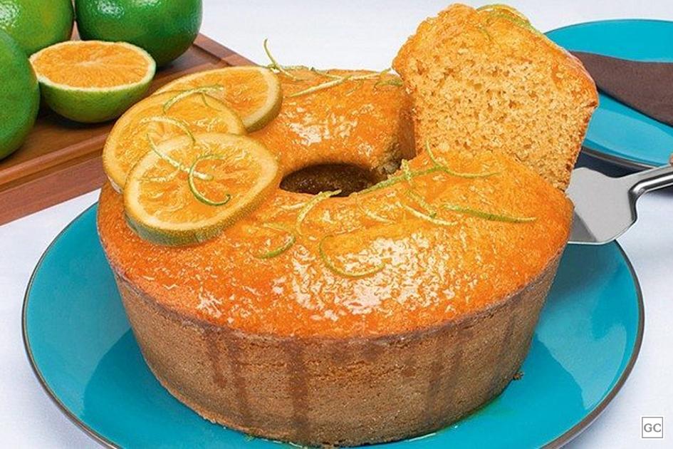 bolo milho calda laranja - 10 Bolos da Vovó Com Sabor de Infância