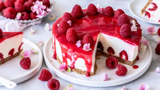 Cheesecake de iogurte de framboesa | sem forno