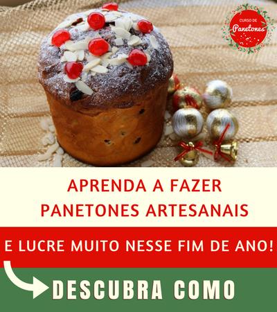 Banner Curso de Panetones 2 - Como Fazer Panetone com Frutas Cristalizada para vender no Natal