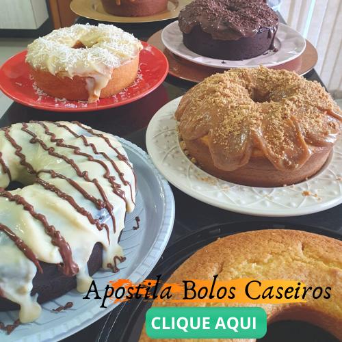 Apostila Bolos Caseiros - Receita de Bolo de Tangerina- Molhadinho e delicioso